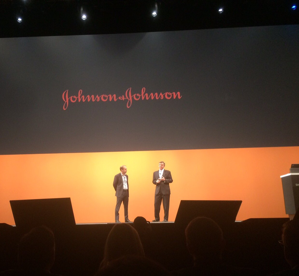 """""""That is speed. That is making a difference. That is innovation."""" - J&J CPO on transformation with SAP Ariba at #SAPAribaLive https://t.co/q9FeL0e8Vf"""