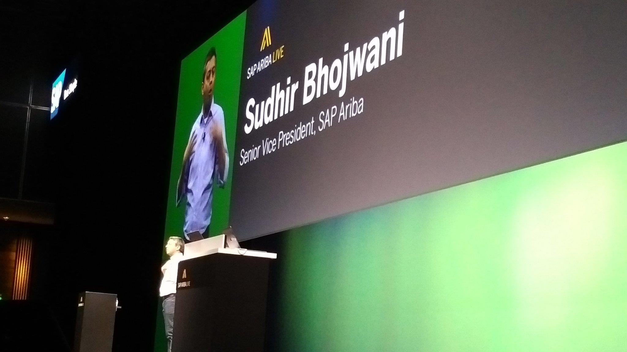 Next up -  Bhojwani on the @SAPAriba Apps #SAPARIBALIVE https://t.co/28r04Nwp50