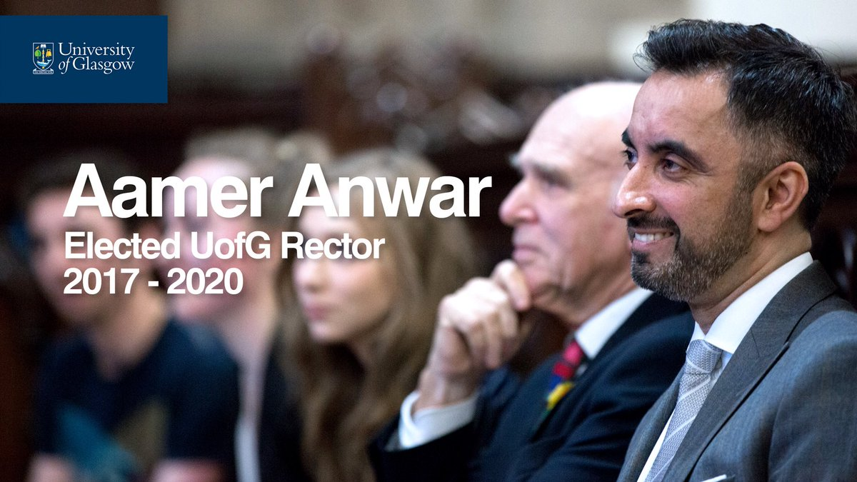 Congratulation to @AamerAnwar elected by our students as UofG's next Rector. #gurector #uofgrector https://t.co/qmxVIRnxOr