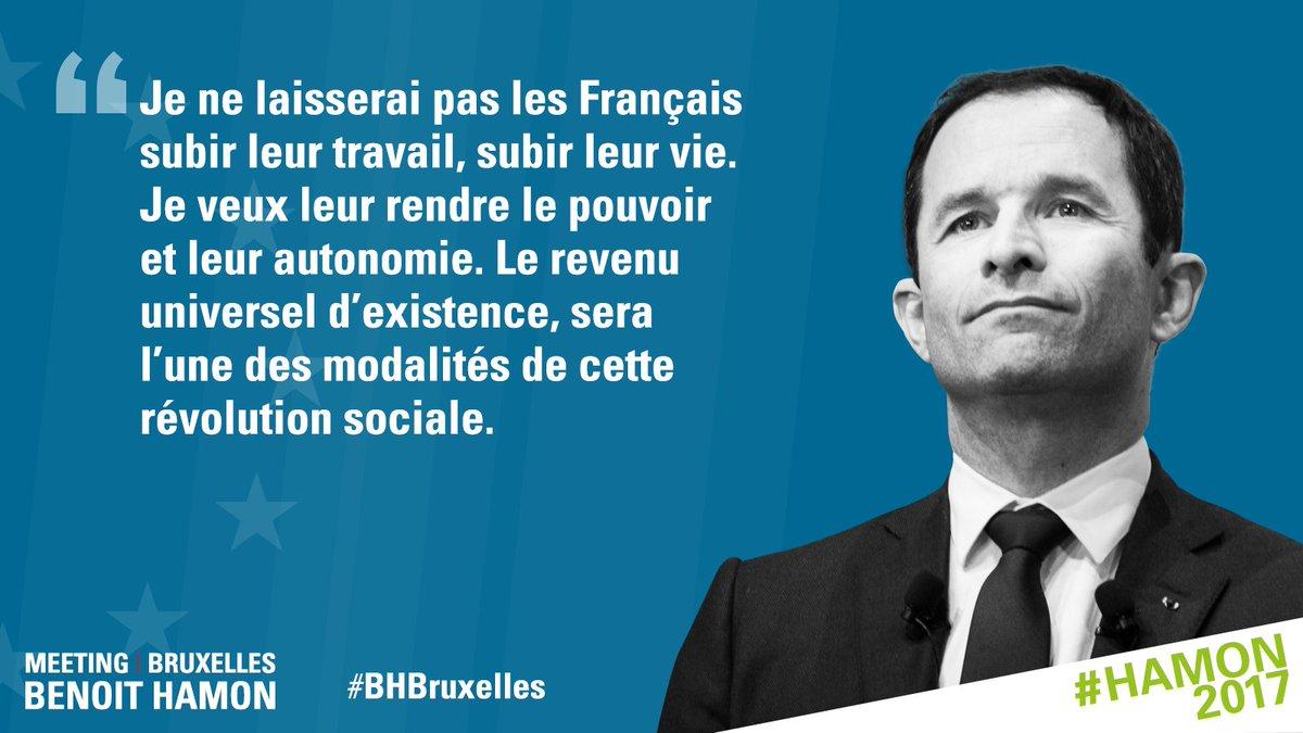 .@benoithamon &quot;Le revenu universel d&#39;existence est un nouveau pilier de notre protection sociale.&quot; #RUE #BHBruxelles<br>http://pic.twitter.com/GJbFsbJHp1