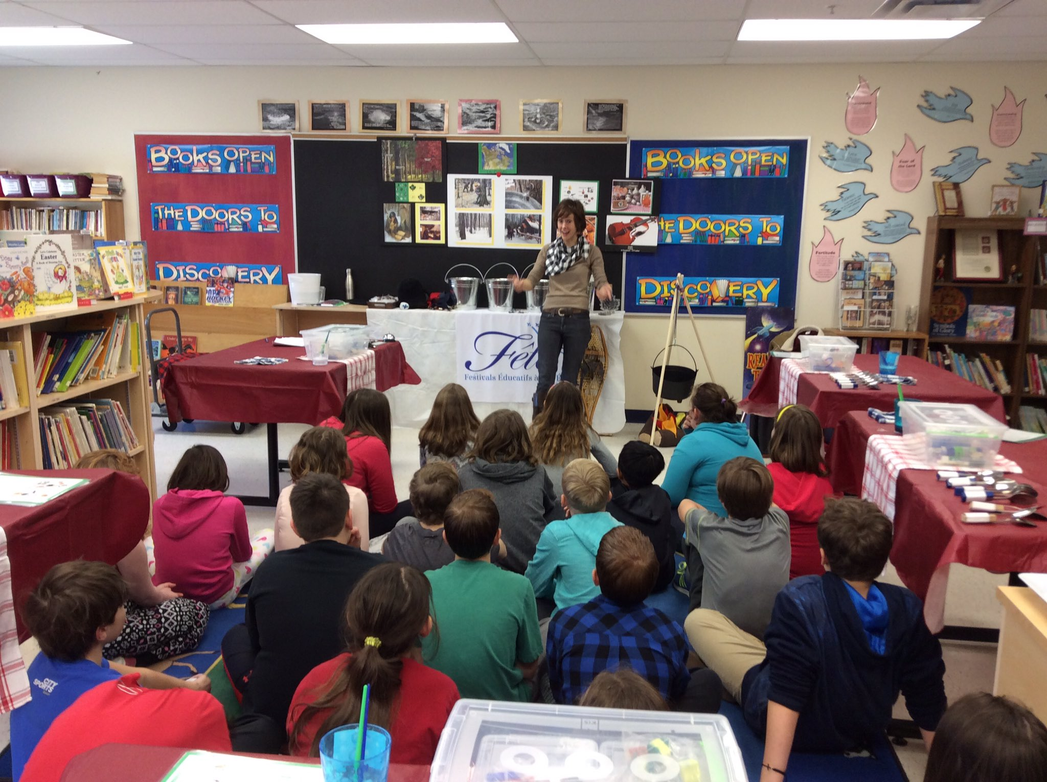 Grade 5&6 students enjoy a Maple Syrup Festival with Laura Tripp! Thank you for an educational French experience. https://t.co/mXcr6axWil