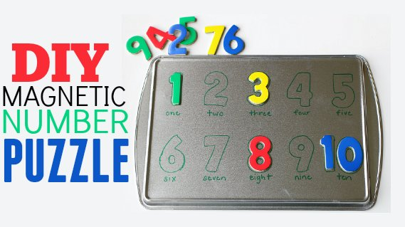 DIY Magnetic Number Puzzle . Activities for Kids: Adventures In Learning . PBS Parents