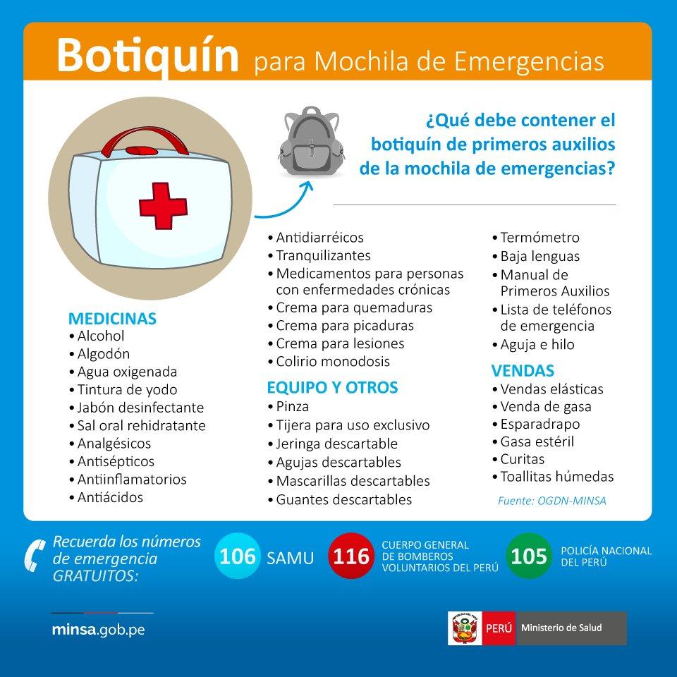 Ministerio de salud on twitter el botiqu ndeemergencia for Ministerio de salud peru