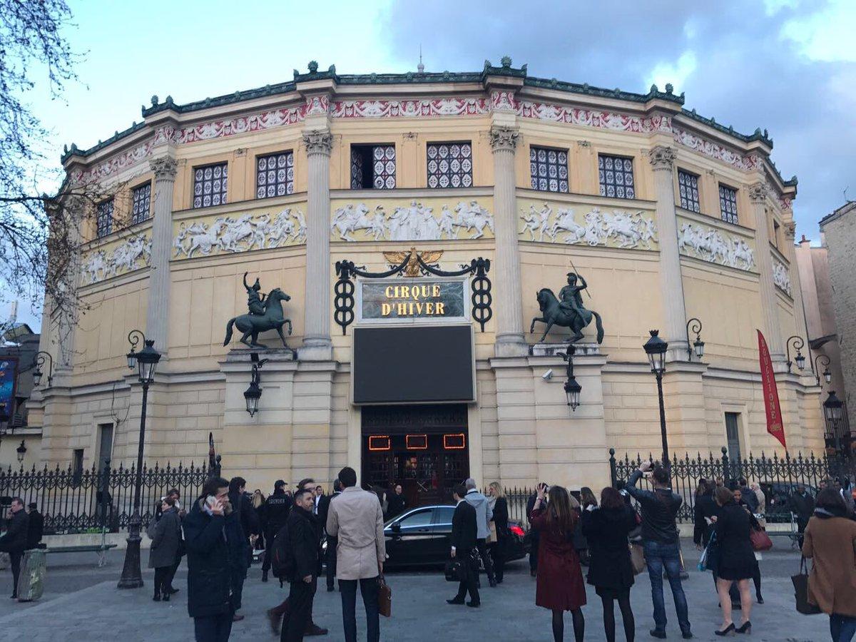 15eme anniversaire de @GPTW_FRANCE au cirque d hiver ! Y aura-t-il un groupe des #domtom au #palmarès ? #gptw2017 #suspense #FrenchTech<br>http://pic.twitter.com/vTC9MChMUu
