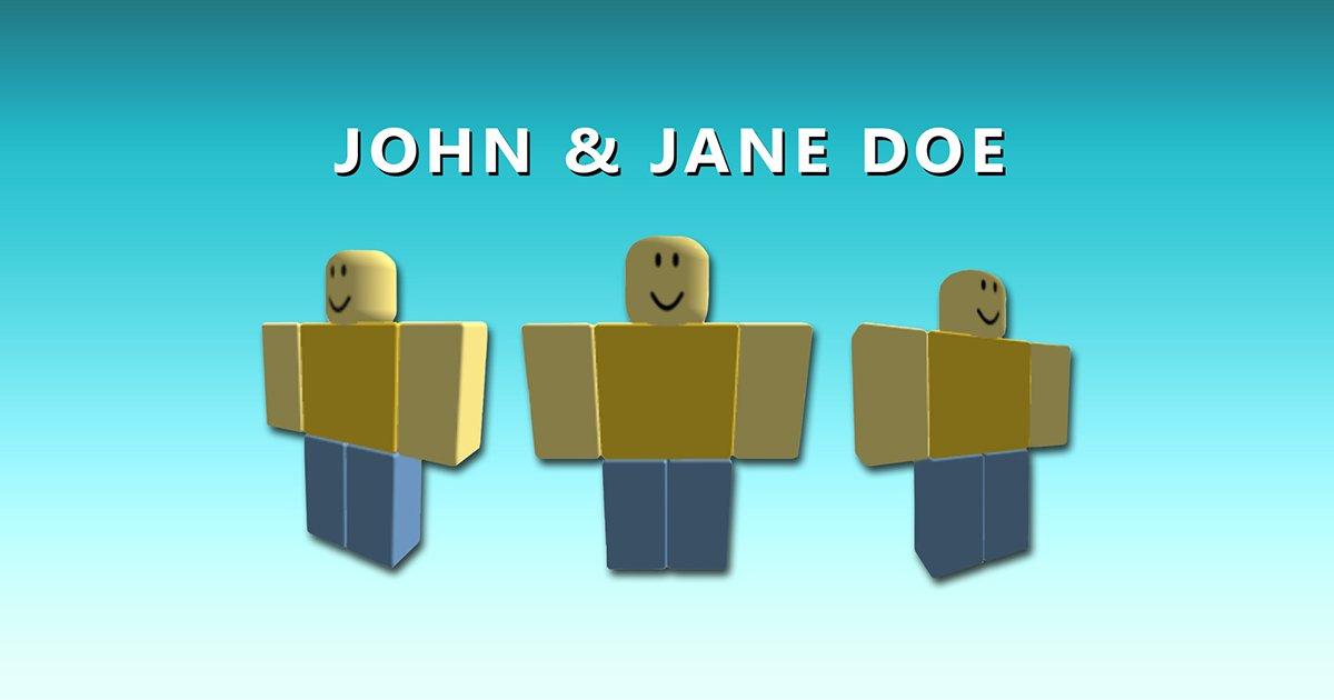 what is john doe password in roblox