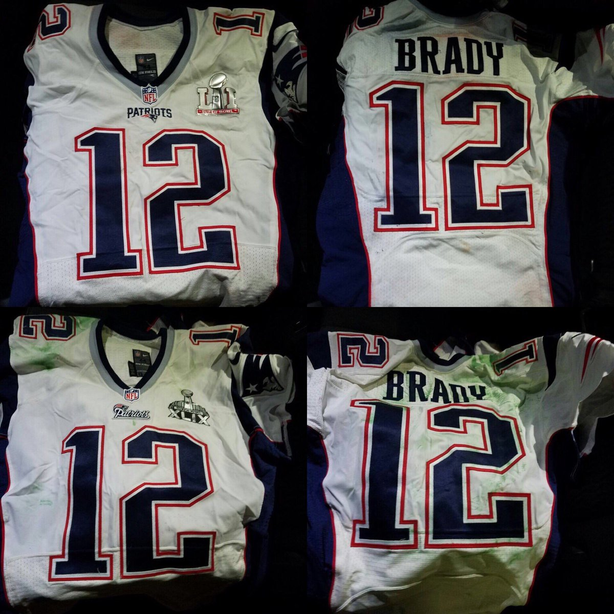 Tom Brady's recovered Super Bowl jerseys are a thing of beauty https:/...