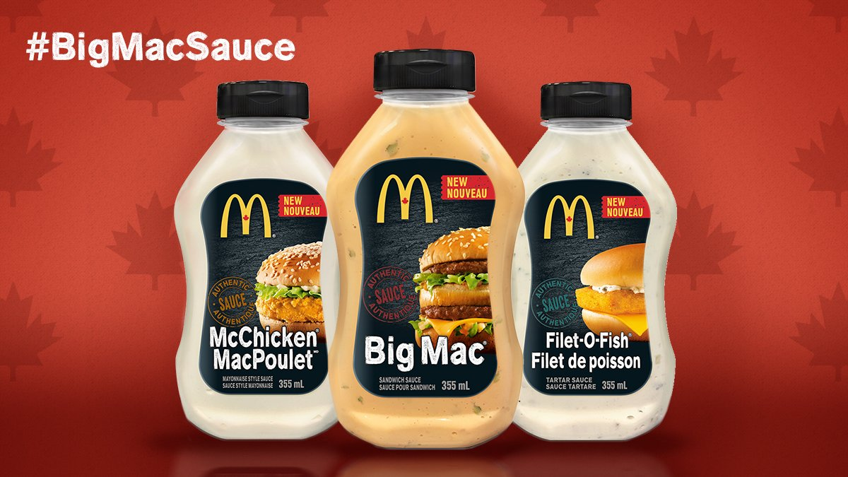 Get ready Canada! Launching on grocery shelves this spring. #BigMacSau...