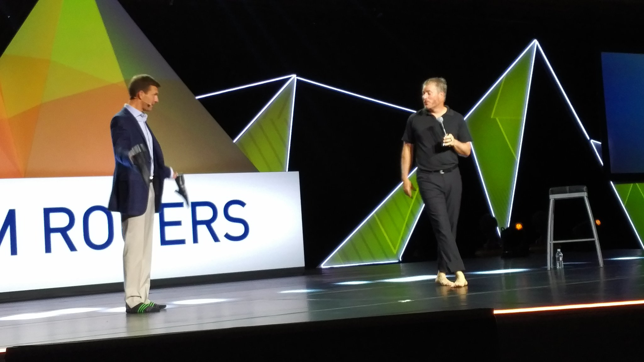 Next up - @adamr and @WEHicks with shoes on stage at #Ulticonnect https://t.co/u1QhcRewYb