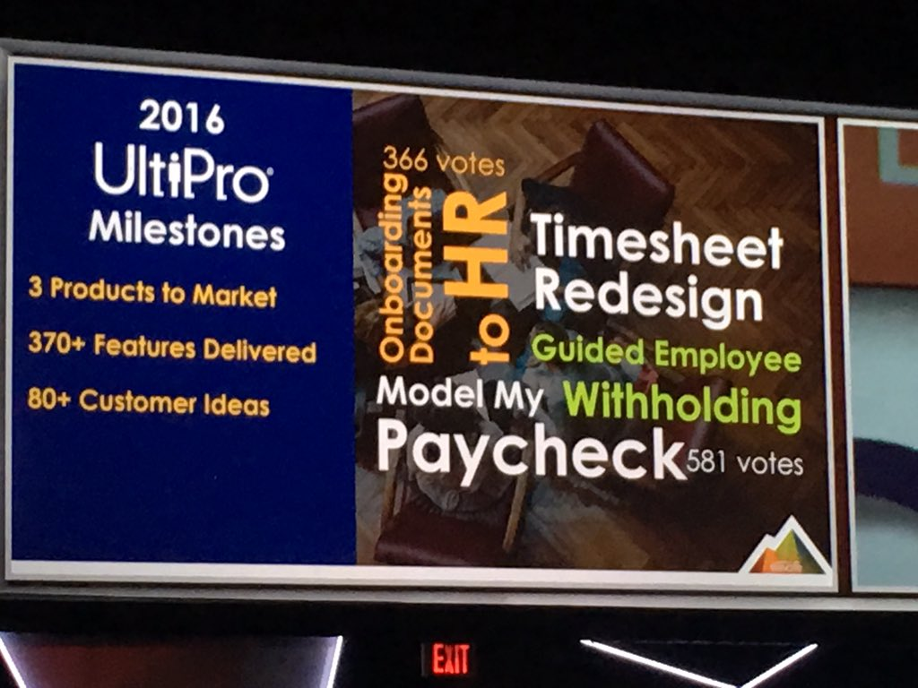 MyPOV: @UltimateHCM had some good milestones in 2016 w 94% c sat and 370 features delivered #hrtech #hcm #payroll #ulticonnect https://t.co/7pI5EDWjmB