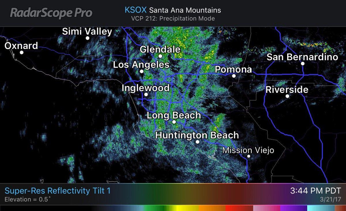 SoCalWXwatcher On Twitter Local Doppler Radar Showing Scattered - Los angeles doppler map