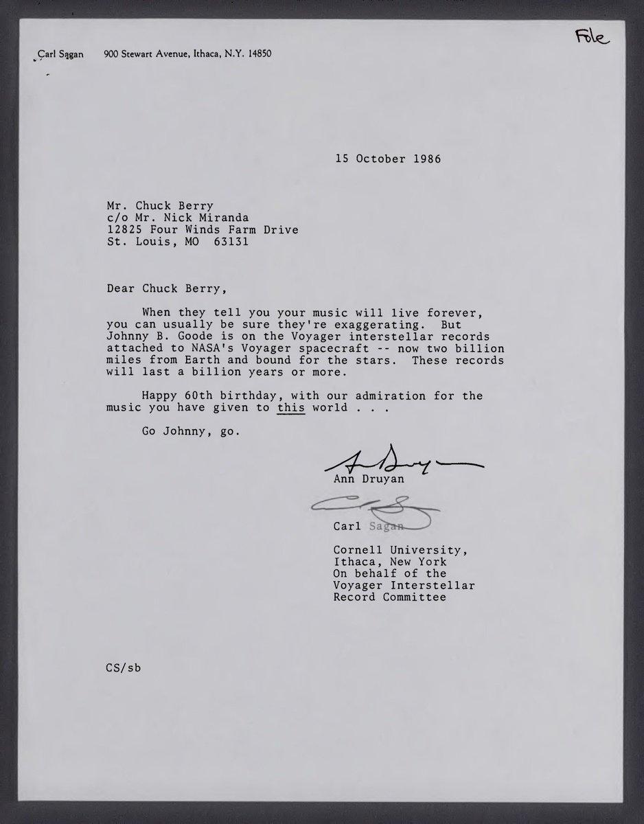 Carl Sagan letter to Chuck Berry https://t.co/C0sbMcEgWG
