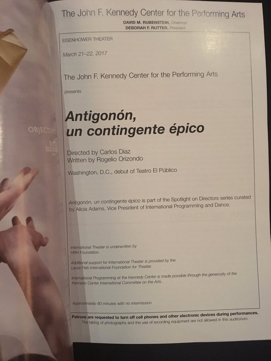 Back at the @kencen for some provocative #theatre #antigonon #frontrow #dcarts