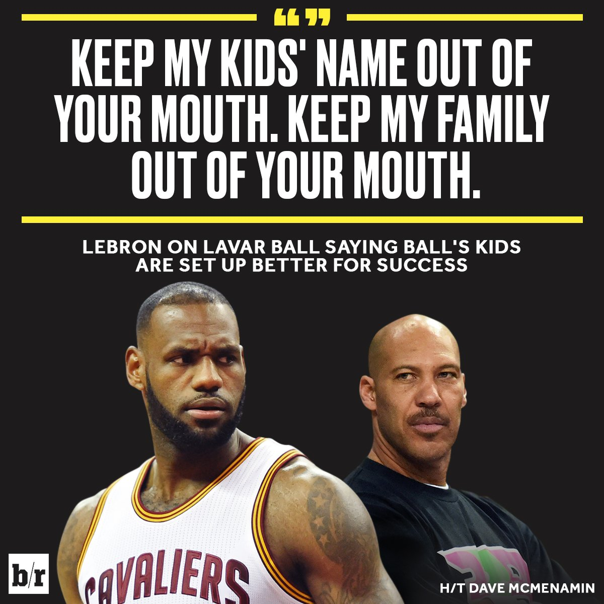 LeBron has a message for LaVar Ball. https://t.co/YDd17dlqBl