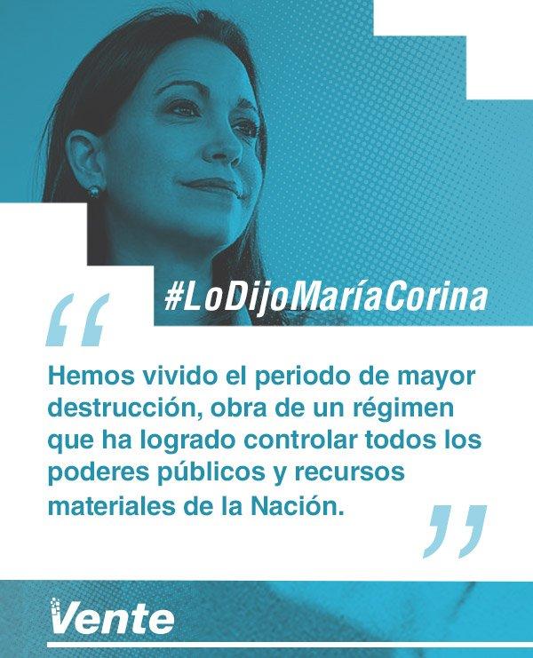 #LoDijoMariaCorina | El régimen le quitó todo poder y autonomía a los...