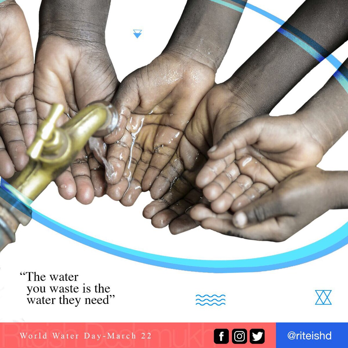 World Water Day - The water you waste is the water they need. https://...