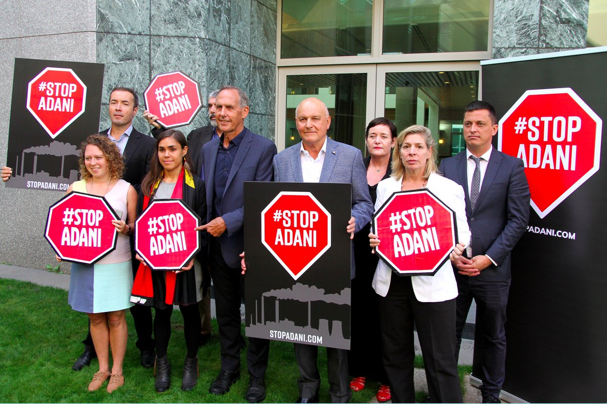 Today we launched the #StopAdani Alliance with 13 organisations to oppose Adani&#39;s dangerous #coal mine. This is the fight of our generation. <br>http://pic.twitter.com/Yiqg3GCIqa