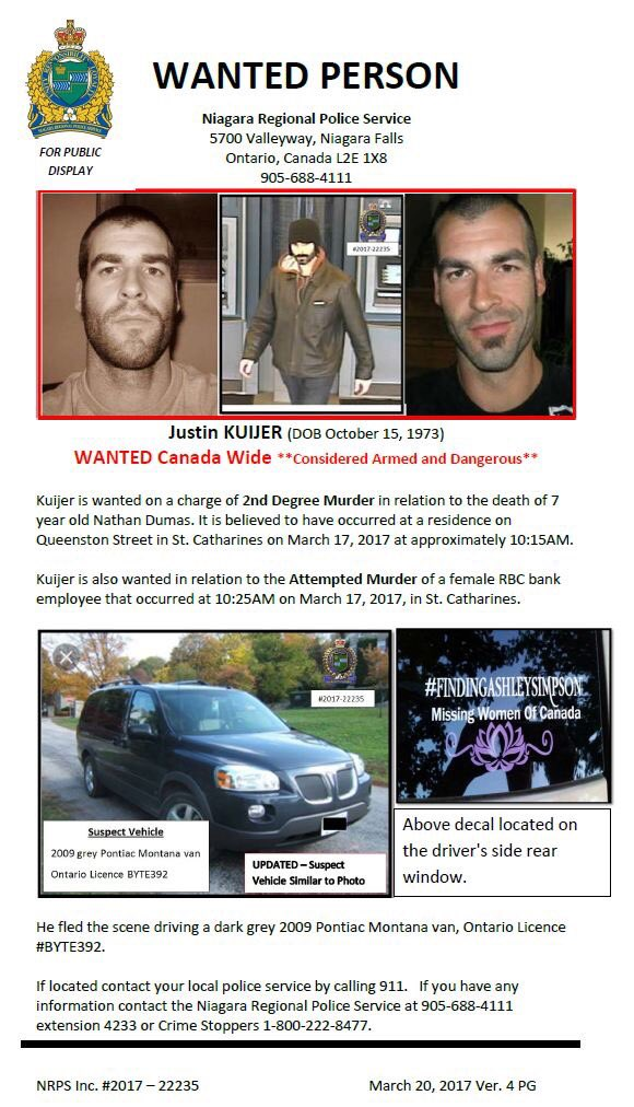 43-year-old Justin Kuijer, who was wanted for the slaying of his 7-yea...