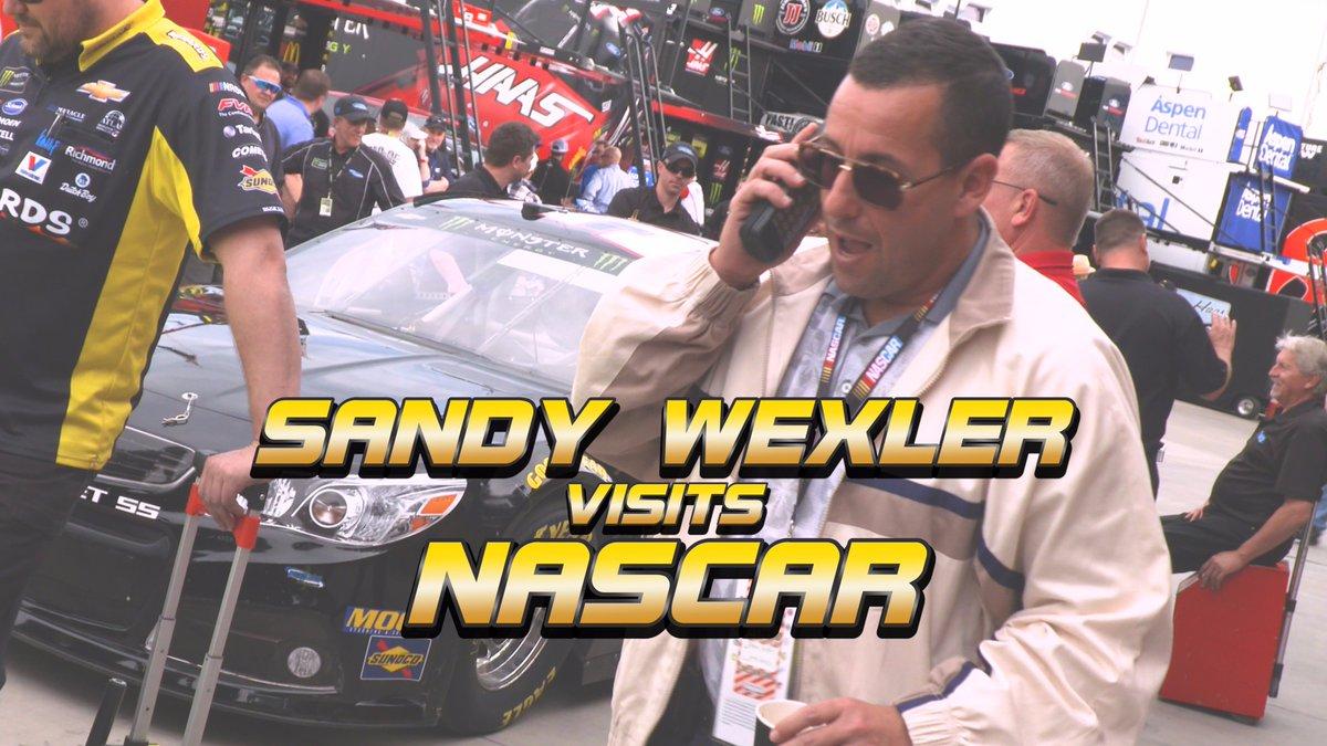 Sandy Wexler visits @NASCAR