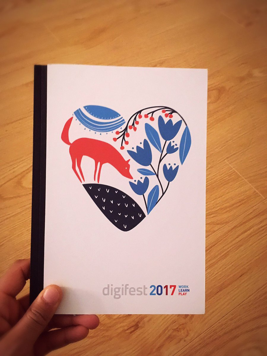Got my #digifest17 notebook the other day! Thanks @digifestTO #excited...