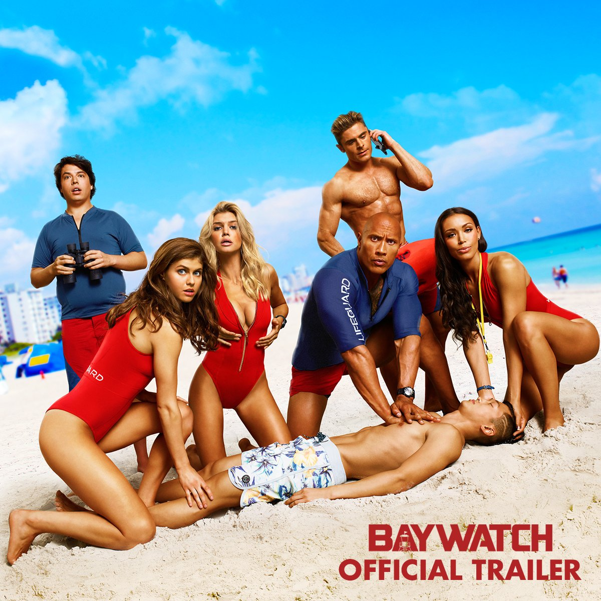 Live fast, run slow. Watch the #Baywatch trailer starring @TheRock and...