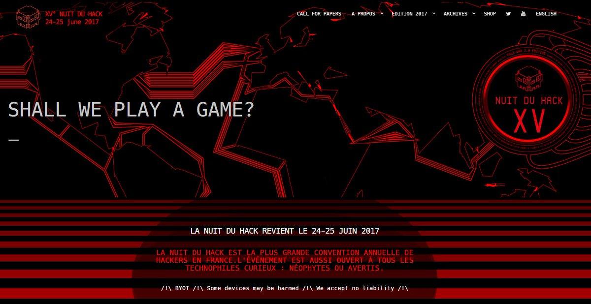 Wow, il claque le nouveau site de la #NDHXV ! Hâte d&#39;y être !  http://www. nuitduhack.com  &nbsp;   #Hackers @hackerzvoice @sysdream<br>http://pic.twitter.com/W5GMYZhBaD