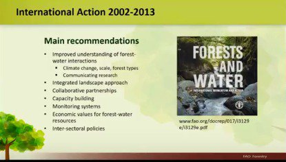 .@FAOForestry&#39;s recommendations for #forests &amp; #water #TreesRCool #worldwaterday <br>http://pic.twitter.com/GmKjaLB0lU