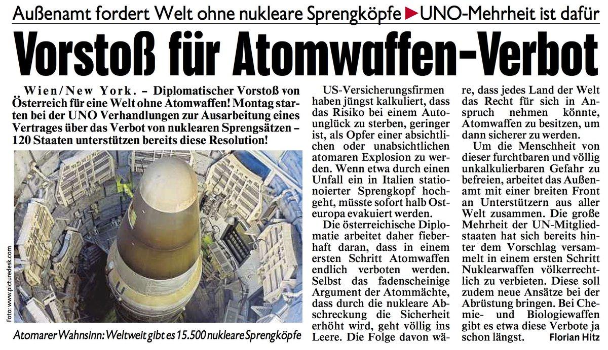 #Österreich setzt sich für eine Welt ohne #Atomwaffen ein - ab Montag...