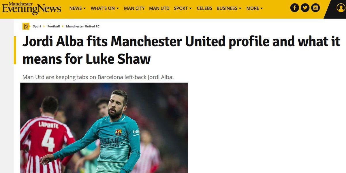 #Manchester United garde un oeil sur du Jordi #Alba (FC #Barcelona) selon le Manchester Evening News <br>http://pic.twitter.com/v9gEh3glVt