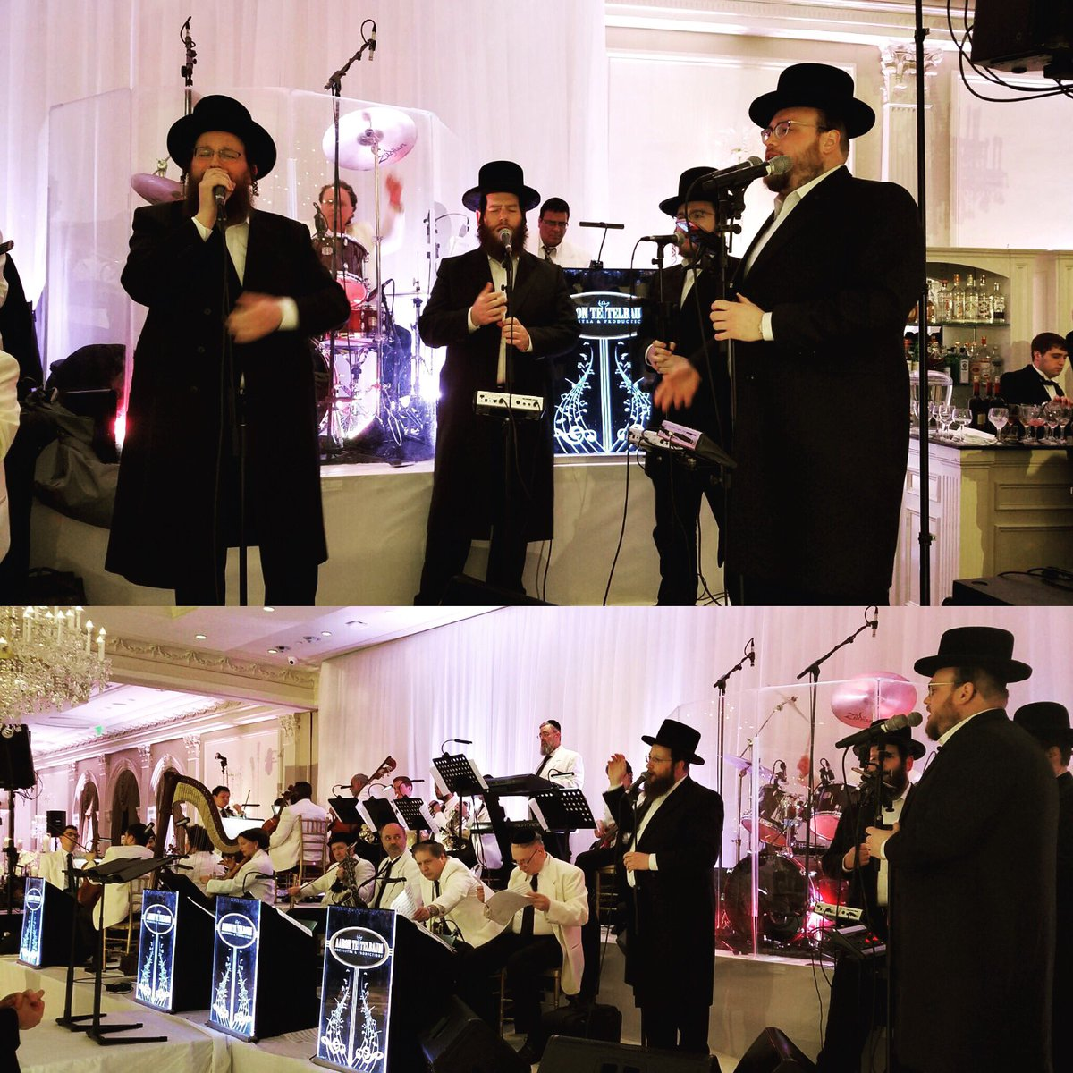 Tonights wedding at #TheRockleigh was something else! With @shloimedaskal and the @aaronteitelbaum #orchestra <br>http://pic.twitter.com/7OHPgDuSuF