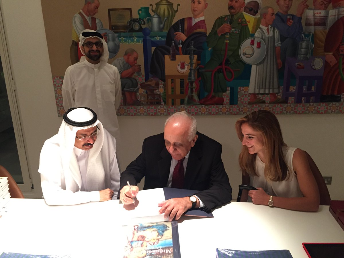 Mr Mohammed Al Murr visited my home to attend the launch of the Mahmoud Said catalogue raisonné, by Dr Hussam Rashwan & Valerie Didier-Hess.