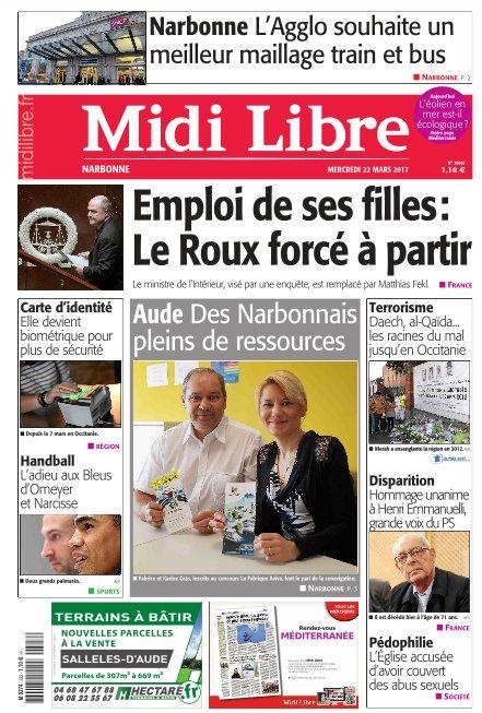A la une de #MidiLibre #Narbonne ce mercredi  - L&#39;agglo souhaite un meilleur maillage train et bus - Des Narbonnais pein de ressources<br>http://pic.twitter.com/pWCr9BK6Lj