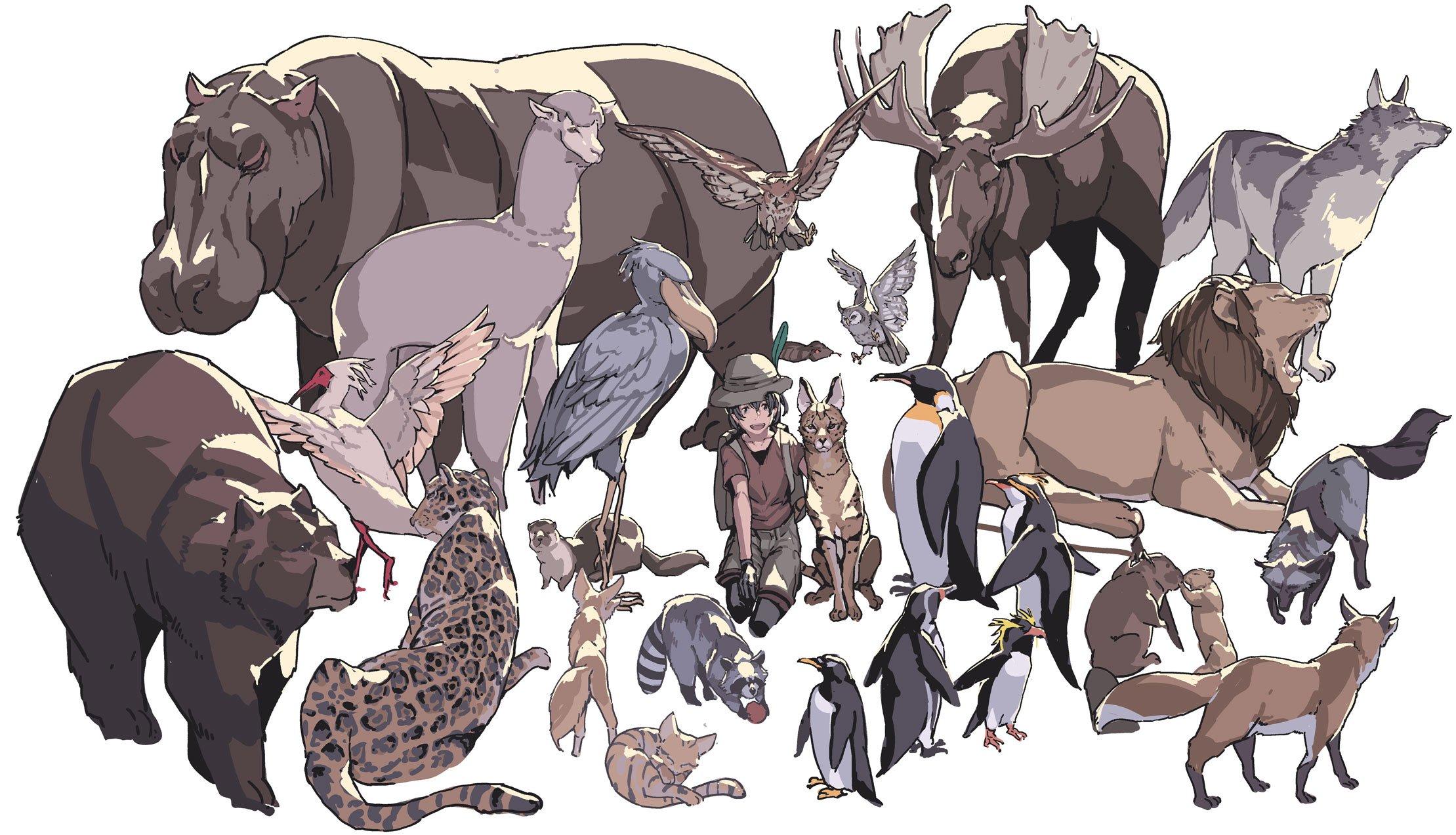 実際の動物とけものフレンズのキャラ達と比較したものがこれwww