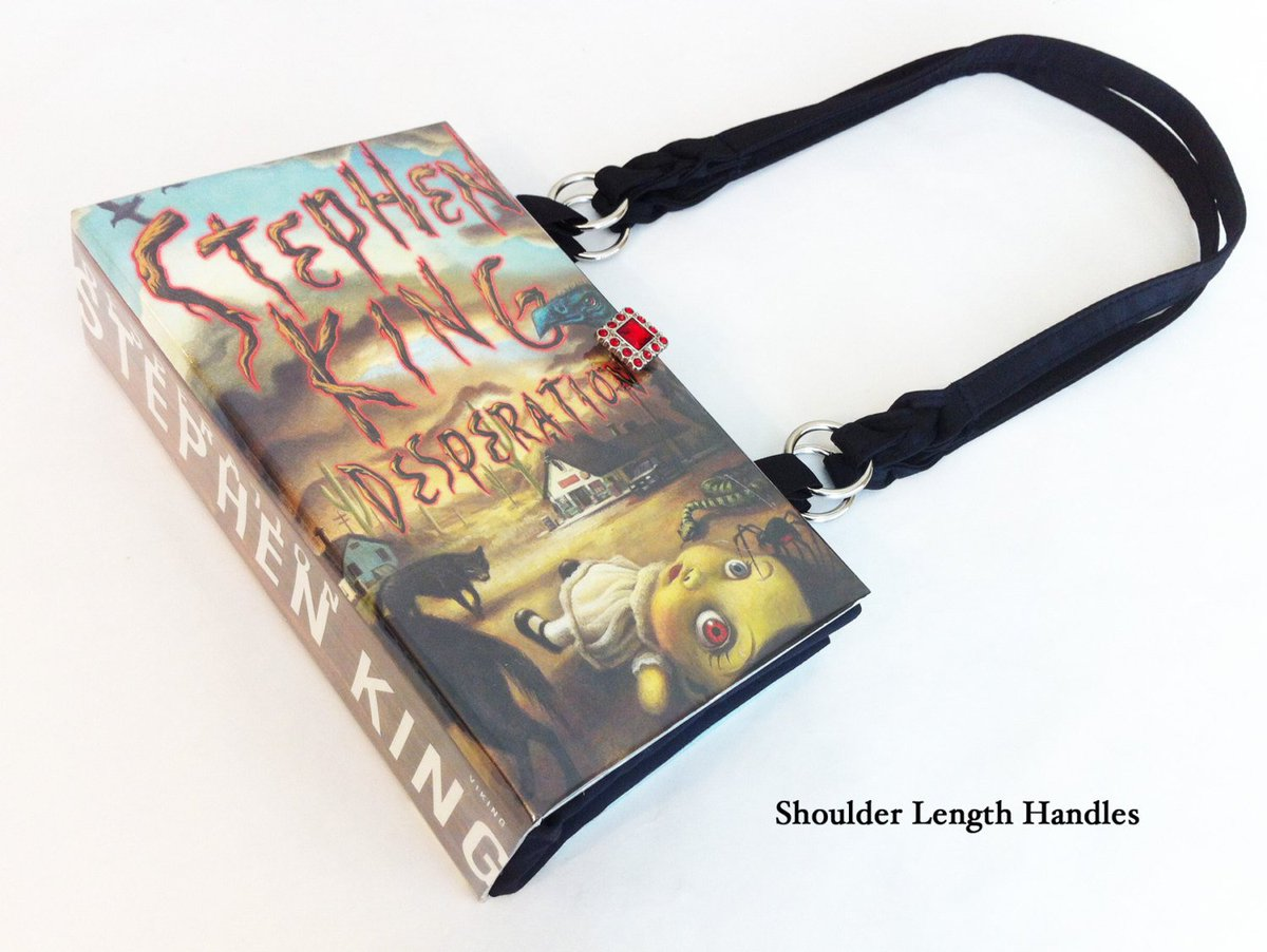Desperation Recycled Book Purse - Apocalyptic Book Bag - Horror Genre Gif…  http:// tuppu.net/9a6baf41  &nbsp;   #Etsymntt #Carrie <br>http://pic.twitter.com/2XBLeiHKSB