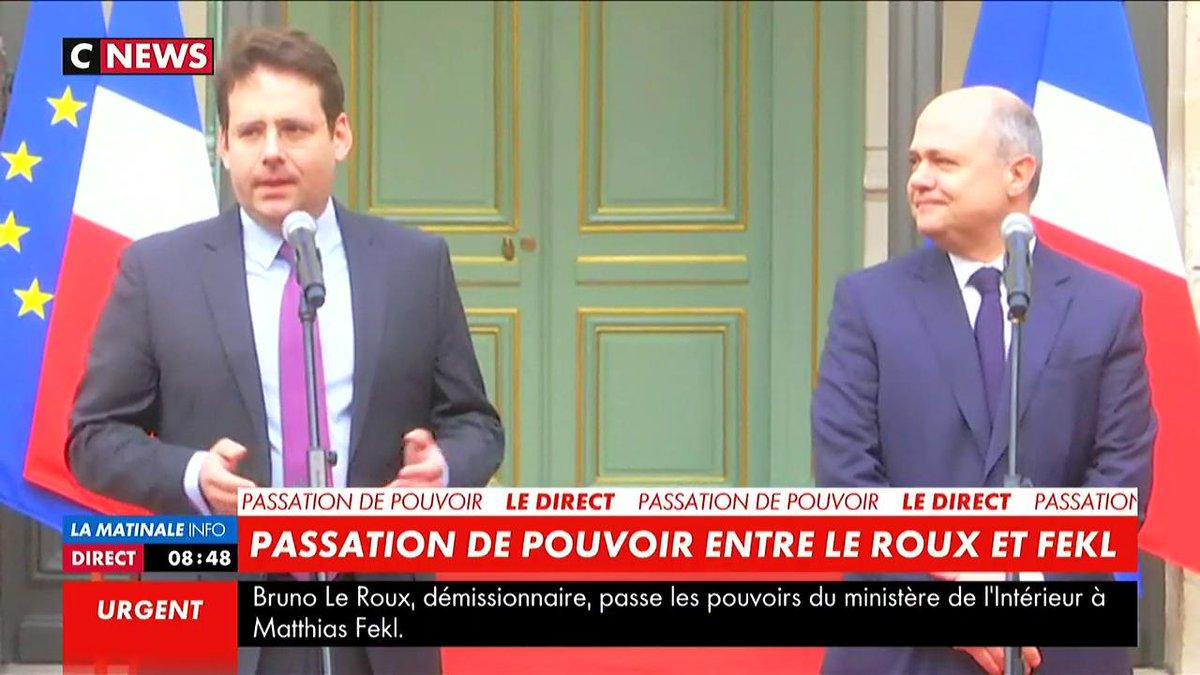 ✅Matthias #Fekl nommé ministre de l'Intérieur remplace Bruno #LeRoux