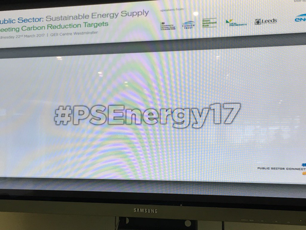 RT @PublicSectorCo All ready for today #psenergy17