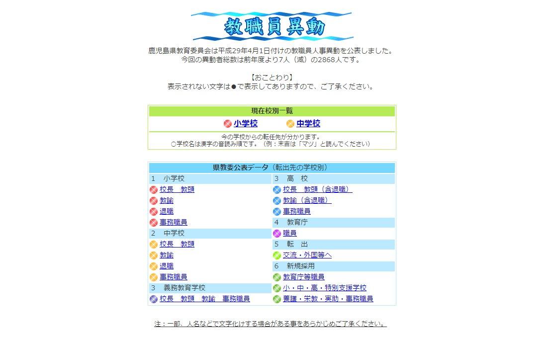 Mbc南日本放送 On Twitter Mbcからのお知らせ 教職員異動 の