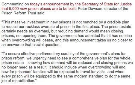 Prison Reform Trust > Press & Policy > News