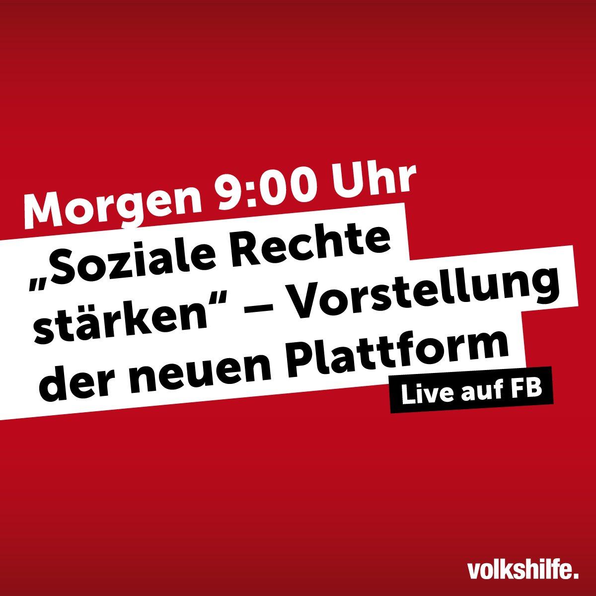 Wir präsentieren unsere neue Plattform für #SozialeRechte! Morgen, 9:0...