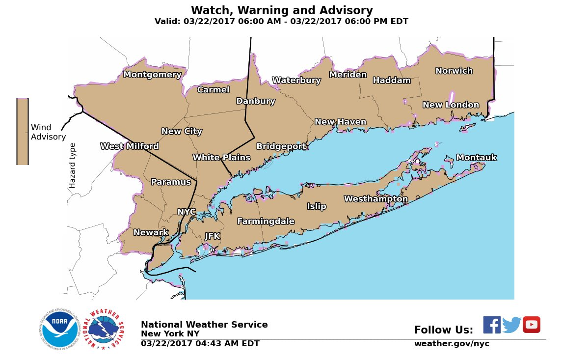 A wind advisory is in effect for today. Winds could gust up to 50 mph....