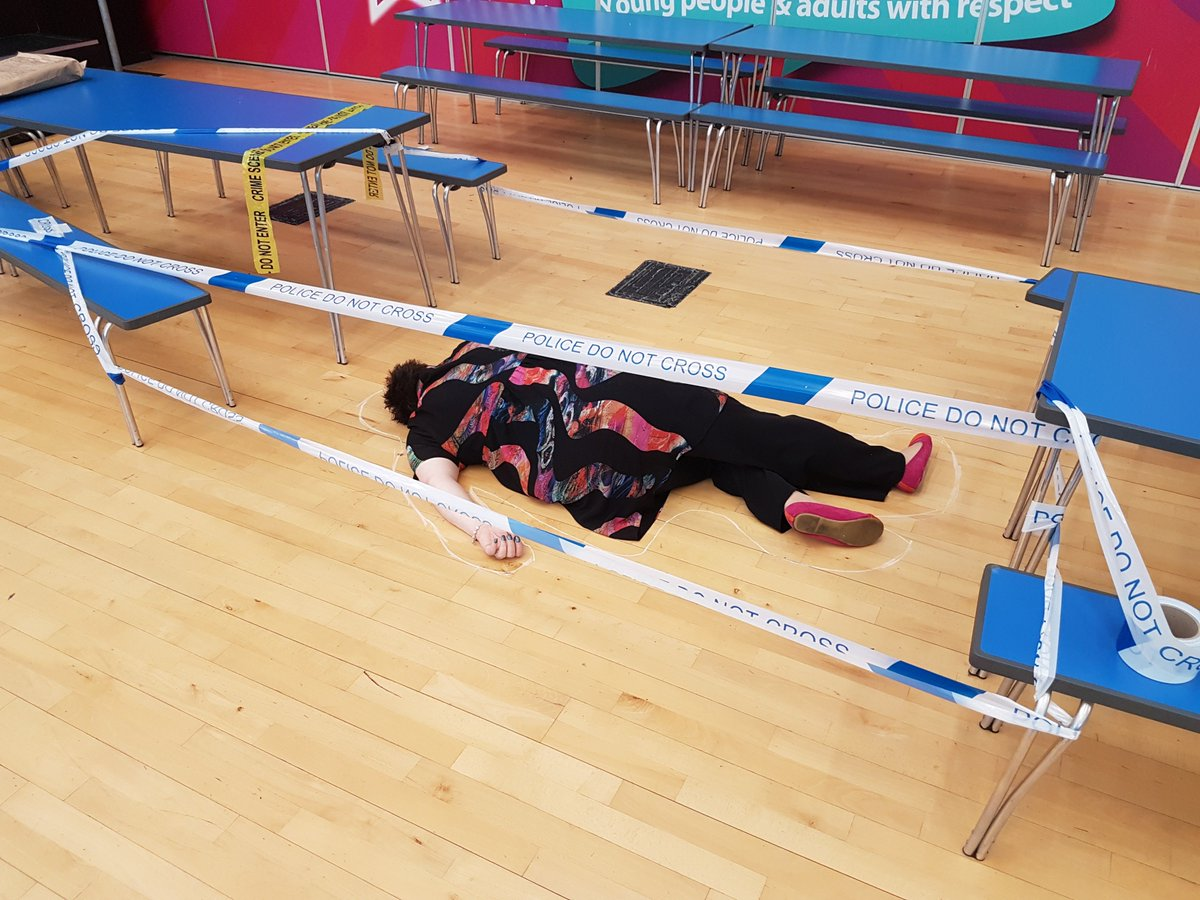 Who murdered the Headteacher!!! Year 7 Forensic Day @BLCscience @BLC_H...