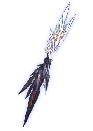 今日からPSO2に実装されたダブセの武器迷彩のデザインをNidyが担当させていただきました。 罰と赦しを司る創世器、その名は断翼ロート=ラウト https://t.co/vjWcqLVPuQ