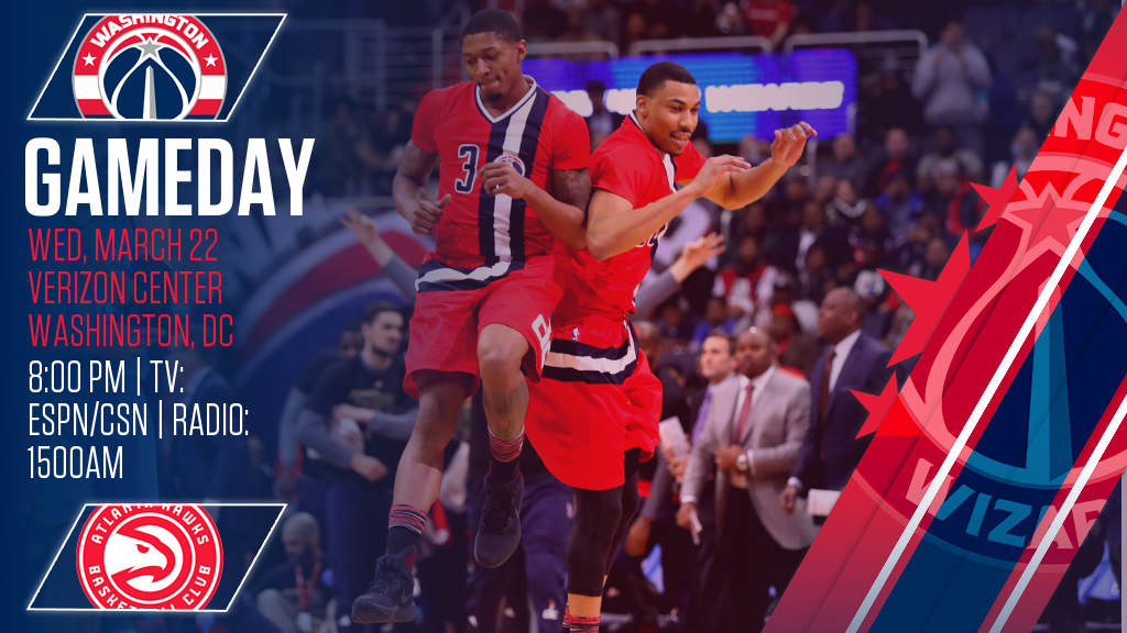 GAMEDAY! We're back home tonight to take on the Hawks at 8pm (ESPN/CSN...