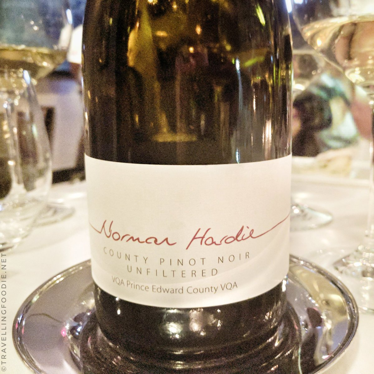 Norman Hardie County Pinot Noir  for Ocean Wise & MLSE Event