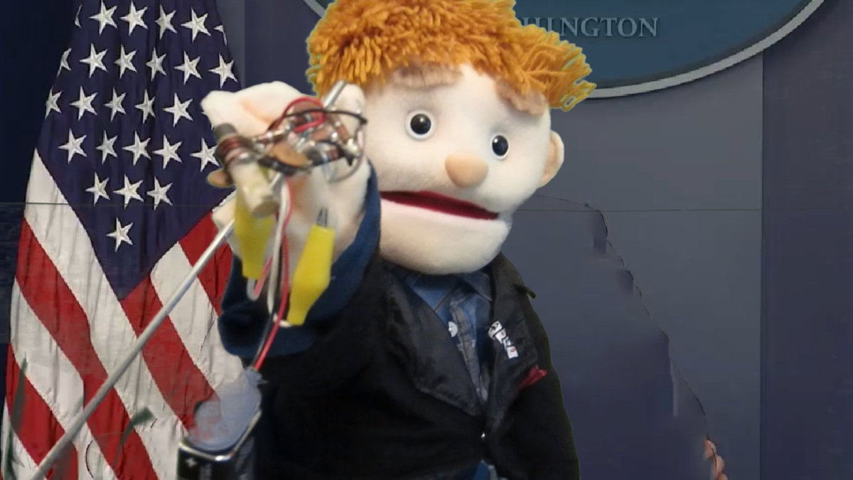 @politico @buzzfeed @bbc #Puppet White House #Press Sec Sean #Spicer shows #Phone #wiretap found at #Trump tower  https:// youtu.be/DtGi8cVaOXk  &nbsp;  <br>http://pic.twitter.com/xPhlPZJBjZ