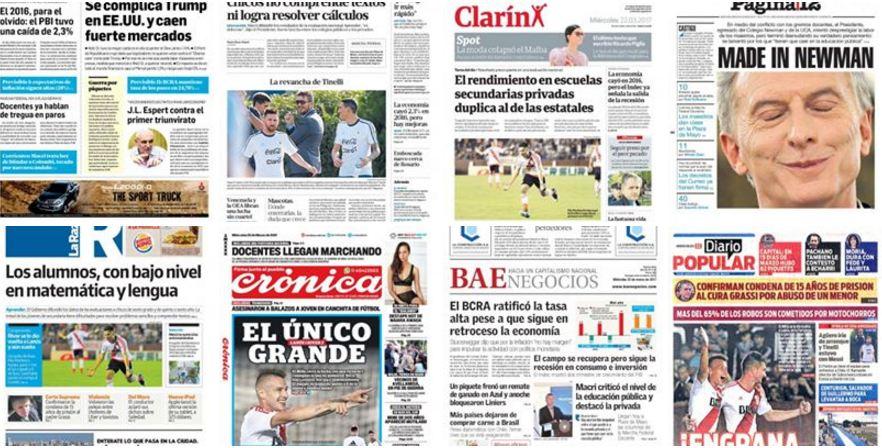 AHORA  Repaso de tapas de los principales diarios local y nacional  #Clarin #LaNación #LaGaceta #DiarioOle<br>http://pic.twitter.com/0AbyMZH3Ra