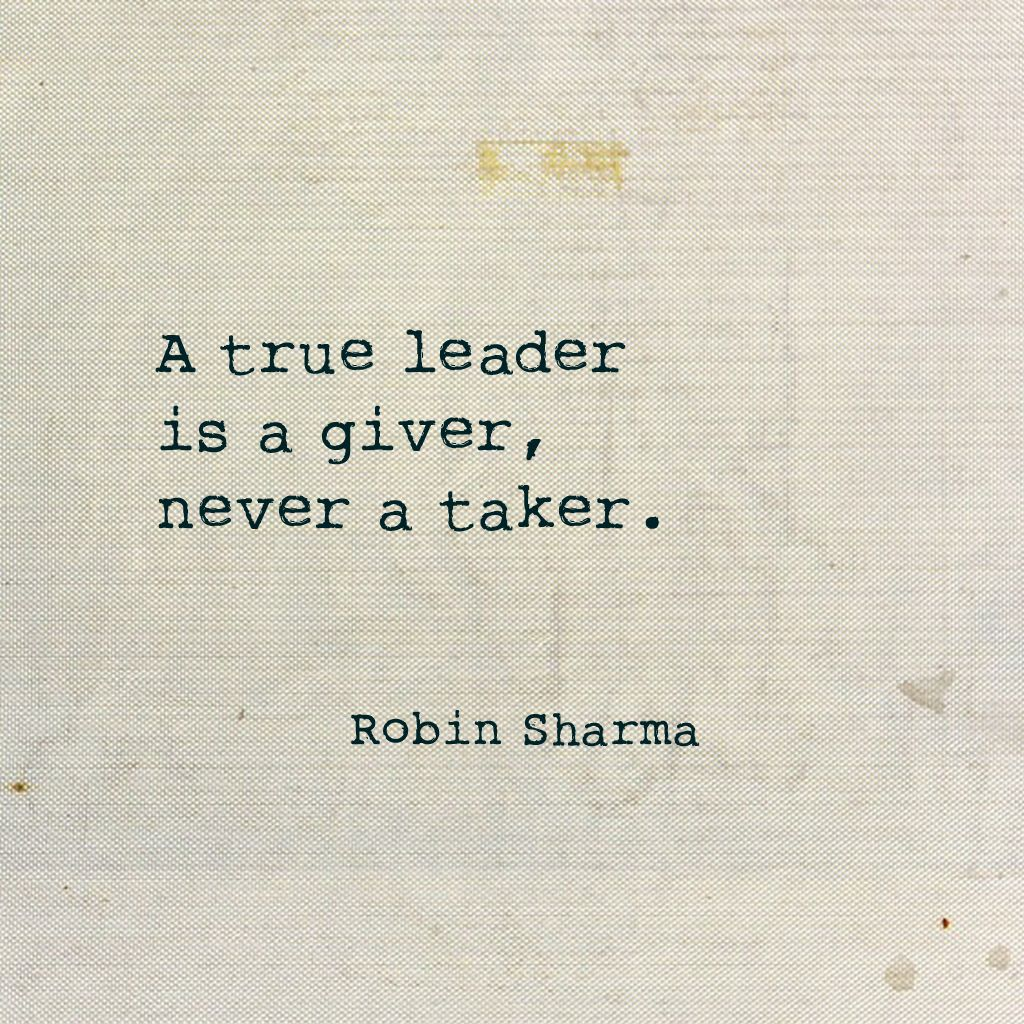 #LeadWithoutaTitle  A true leader is a giver, never a taker. https://t...