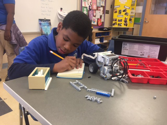 walker jones ec on twitter a mechanical engineer mentors our robotics team documents work in a notebook look who was observing