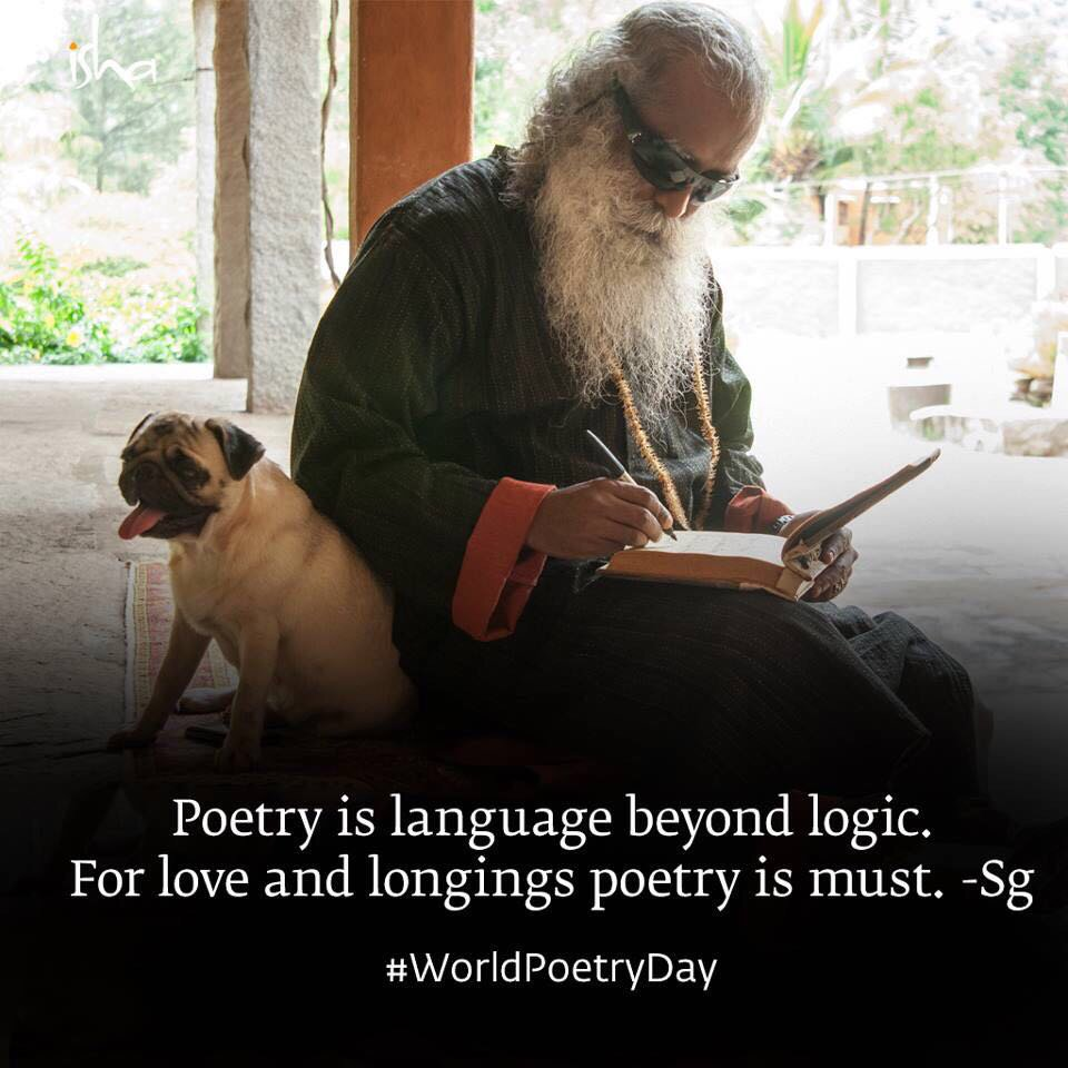 We missed #WorldPoetryDay yesterday, but we didn't miss the beauty of...