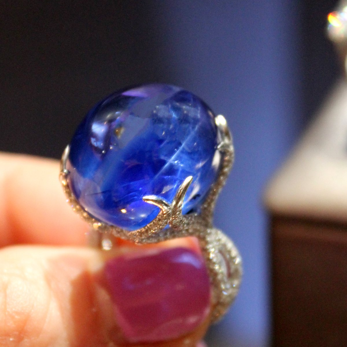 gemstones jewelry carats image ring natural sapphire estate burmese colored untreated burma