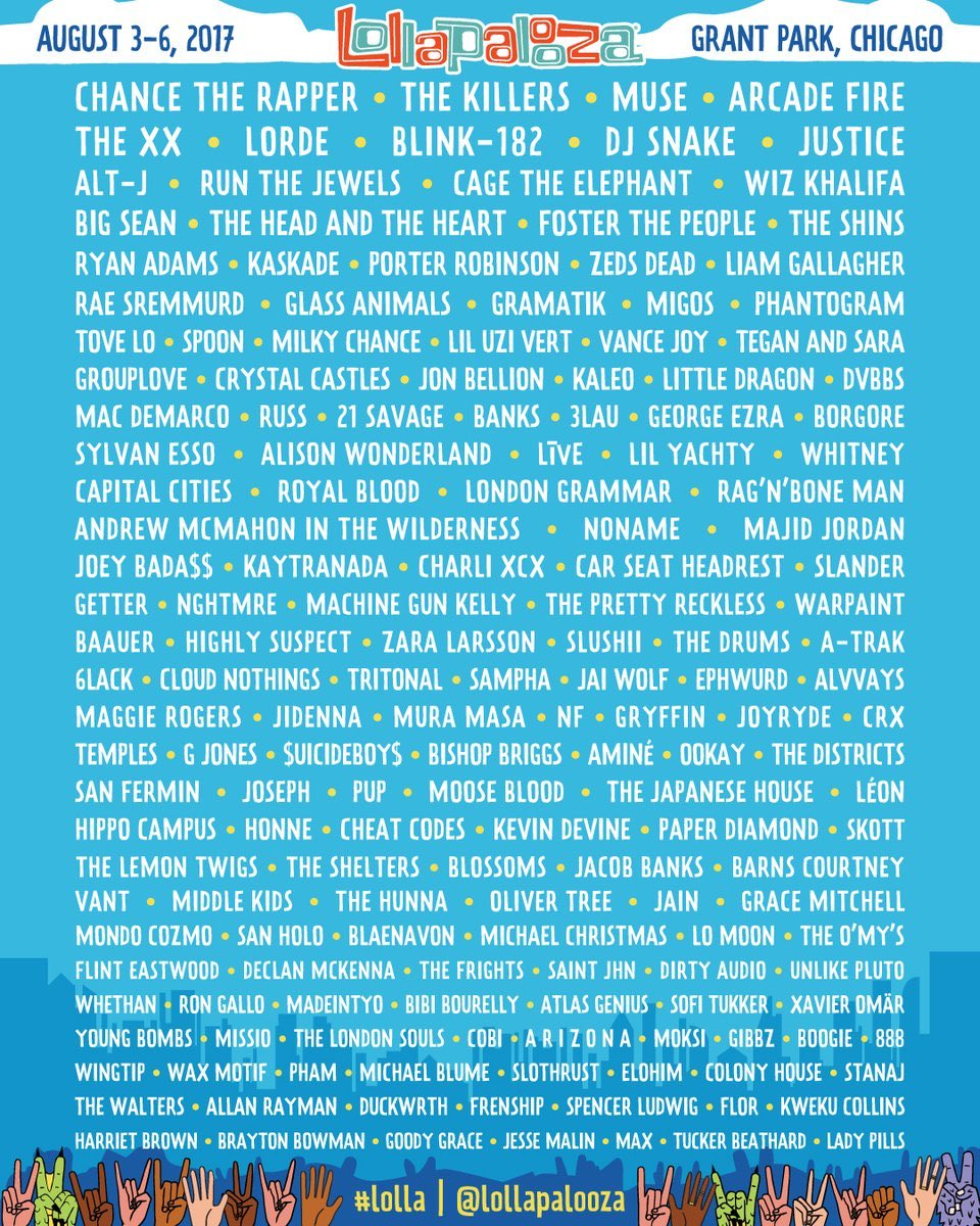 Chicago whats up? 🙌 @lollapalooza https://t.co/8Bnsq3DIq2